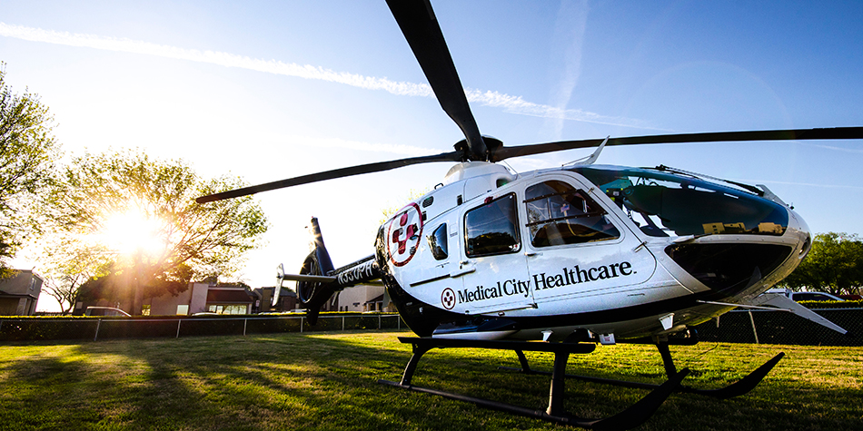 Medical City Healthcare helicopter