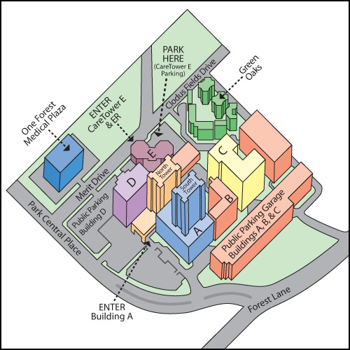 Medical City Dallas Map Facility Map | Medical City Healthcare